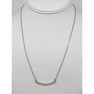LOFT Silver Necklace with Crystal Bar Pendant